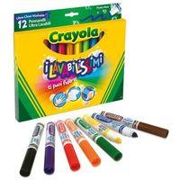 Mazaki i flamastry, Flamastry Super Spieralne 12 kolorów CRAYOLA