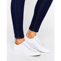 Damskie obuwie sportowe, Fred Perry Kingston White Leather Trainers - White