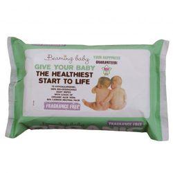 - BEAMING BABY - Organiczne chusteczki nawilżane - BEZZAPACHOWE- do skóry bardzo delikatnej