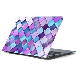 Naklejka na laptopa - Fioletowa kostka 4357