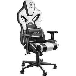 Fotel DIABLO CHAIRS X-Fighter Czarno-biały + Zamów z DOSTAWĄ JUTRO!