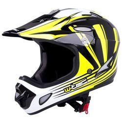 Kask downhill na rower motor enduro W-TEC FS-605, Yellow Graphic, M (57-58)