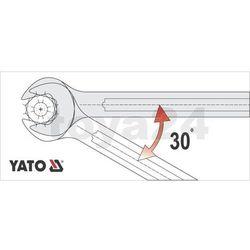 Klucz płasko-oczkowy z polerowaną główką 18 mm Yato YT-0347 - ZYSKAJ RABAT 30 ZŁ