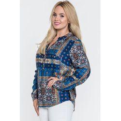Wizytowa bluzka z dekoltem typu henley - Duet Woman