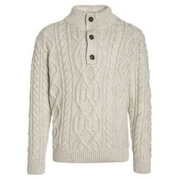 GAP CABLE BUTTON MOCK Sweter oatmeal heather