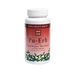 Pu-Erh Czerwona Herbata z Chromem x 100 kapsułek