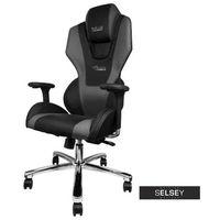 Fotele dla graczy, SELSEY Fotel gamingowy E-Blue Mazer czarny
