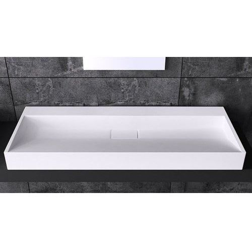 Umywalki, Prostokątna umywalka nablatowa Liniger - LNG 19