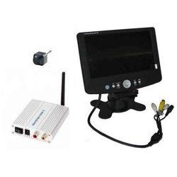 Mikro-Kamera Bezprzewodowa + Odbiornik do 250m. + Nagrywający Odbiornik LCD 7''.