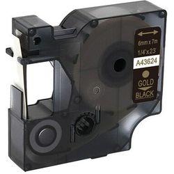 Taśma DYMO D1 43624 6mm x 7m czarna złoty nadruk - zamiennik | OSZCZĘDZAJ DO 80% - ZADZWOŃ! 730811399