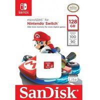 Karty pamięci, Karta pamięci MicroSDXC SanDisk NINTENDO SWITCH microSDXC 128GB 100/90 MB/s A1 C10 V30 UHS-I U3