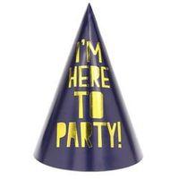 Pozostałe wyposażenie domu, Czapeczki papierowe I'm here to party! i Let's get toasty - 6 szt.