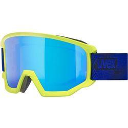 UVEX Athletic CV Gogle, lime mat/colorvision blue fire 2019 Gogle narciarskie