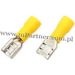 Nasuwka konektor żeński 6,3 mm z osłoną do 6mm 100szt