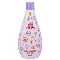 Swizzels juicy blueberry love hearts żel pod prysznic dla dzieci 400ml