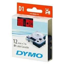DYMO Tape cassette dymo d1 12mmx7m black/red 45017