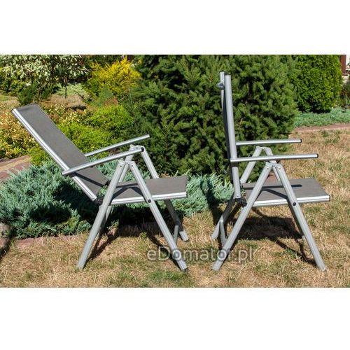 Pozostałe meble ogrodowe, Meble ogrodowe składane aluminiowe MODENA Stół i 6 krzeseł - Srebrny - srebrny Zestaw Modena (-7%)