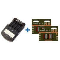 Ładowarki do akumulatorków, ładowarka everActive NC-1000 PLUS + 16 x R03/AAA Eneloop Expedition Tones