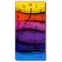 Zegar Szklany Pionowy Sztuka Kolorowe linie kolorowy