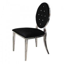 Krzesło Ludwik glamour Black - nowoczesne krzesła pikowane kryształkami