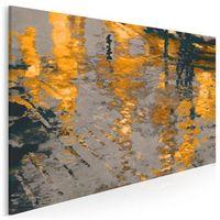 Obrazy, Odbicie słonecznego miasta - nowoczesny obraz na płótnie - 120x80 cm