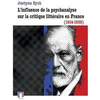 E-booki, L'influence de la psychanalyse sur la critique littéraire en France (1914-1939)