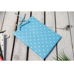 Torba prezentowa niebieska 24x8,5 cm