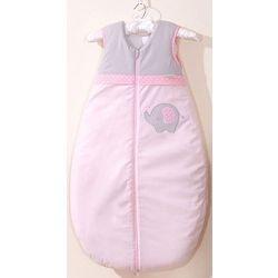 MAMO-TATO Śpiworek niemowlęcy do 18 m-ca haftowany Słonik różowy