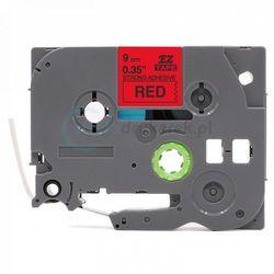 Taśma Brother TZe-S421 mocny klej czerwona/czarny nadruk 9mm x 8m zamiennik