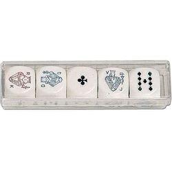 Piatnik, kości do gry, Pokerowe (22mm)