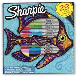 Markery Permanentne Sharpie 28 Kolorów FN UFN Ryba