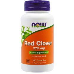 Czerwone kwiaty koniczyny Red Clover 375mg 100 kapsułek NOW FOODS