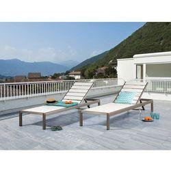 Leżak biały - ogrodowy - plażowy - tarasowy - NARDO