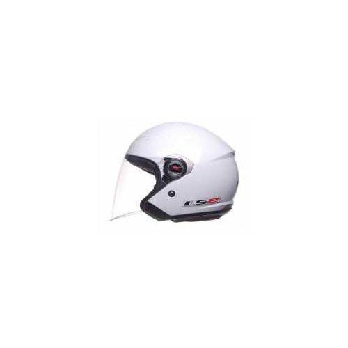 Kaski motocyklowe, KASK OTWARTY LS2 OF569.7 ROCK Biały CHOPPER