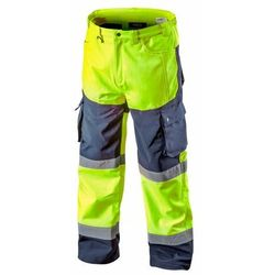 Spodnie robocze ocieplane SOFTSHELL żółte M NEO