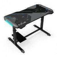 Fotele dla graczy, E-Blue Biurko dla gracza 113cm x 59,5cm x 74 cm, podświetlenie, regulowana wysokość