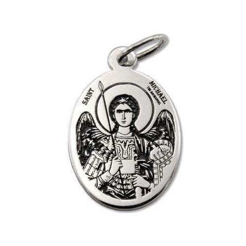 Pozostała biżuteria, Medalik srebrny z wizerunkiem św. michała archanioła med-mich-01