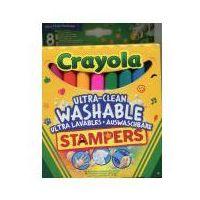 Mazaki i flamastry, Flamastry zmywalne Ministempelki 8 kolorów CRAYOLA