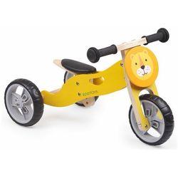 Drewniany rowerek biegowy, balansowy, rower trójkołowy, 2w1, lew darmowa dostawa