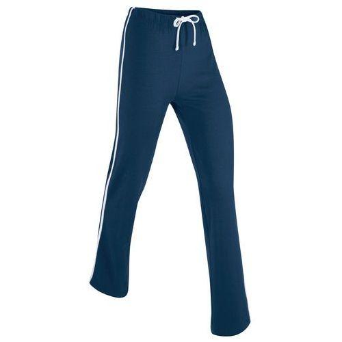 Pozostała odzież sportowa, Spodnie shirtowe ze stretchem, długie, Level 1 bonprix ciemnoniebieski