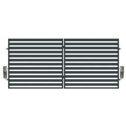 Brama dwuskrzydłowa z automatem Polbram Steel Group Lara 350 x 154 cm