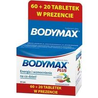 Witaminy i minerały, Bodymax Plus tabletki x 60+20 sztuk gratis!