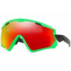 Okulary narciarskie Oakley Wind Jacket 2.0 80s Green Prizm Snow Torch Iridium OO7072-04