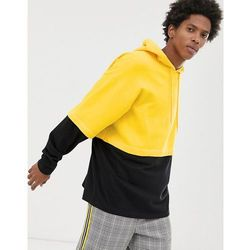 ASOS DESIGN oversized hoodie with double layer sleeve and hem in yellow - Yellow