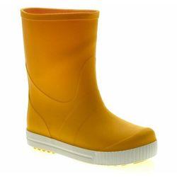 Kalosze dziecięce GoKids Wave Żółte - Biały   Żółty