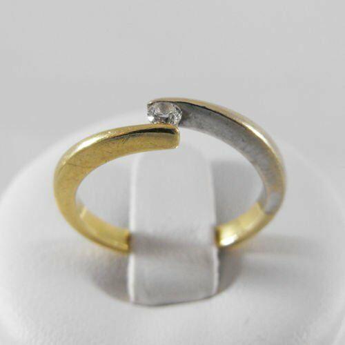 Pierścionki i obrączki, Złoty pierścionek z brylantem P1415