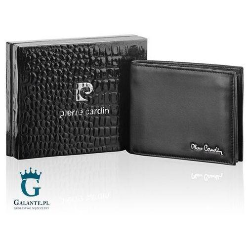 Portfele i portmonetki, Czarny portfel męski Pierre Cardin TILAK09 8824