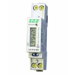Licznik energii elektrycznej F&F LE-01D jednofazowy 5/45A 230V AC MID na szynę DIN