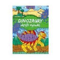 Książki dla dzieci, Ksiazeczka eduk a4 dinozaury ukryte rysunki lit (opr. broszurowa)