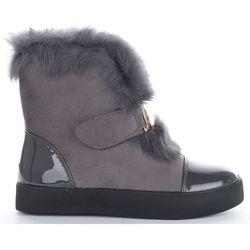 Modne i Eleganckie Sneakersy Damskie Śniegowce firmy Sergio Todzi Szare (kolory)